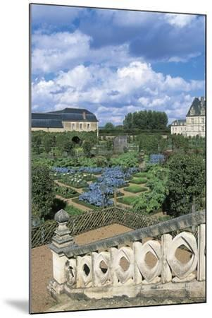 Chateau De Villandry and Gardens, Loire Valley--Mounted Photographic Print