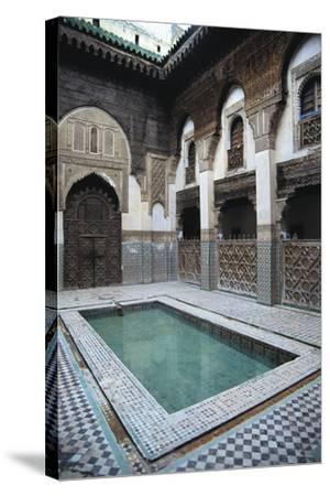 Courtyard, Sahrij Madrasa--Stretched Canvas Print
