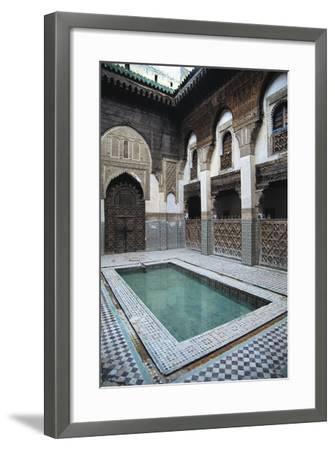Courtyard, Sahrij Madrasa--Framed Giclee Print