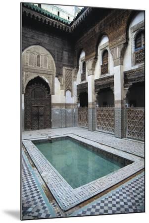 Courtyard, Sahrij Madrasa--Mounted Giclee Print