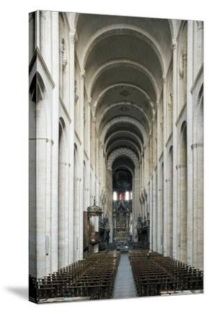 Nave, Church of St Sernin--Stretched Canvas Print
