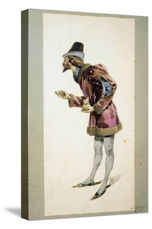 Costume Sketch-Adolfo Hohenstein-Stretched Canvas Print