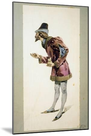 Costume Sketch-Adolfo Hohenstein-Mounted Giclee Print