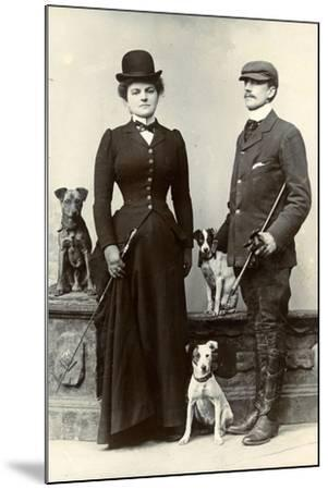 Portrait of a Couple with Dogs--Mounted Photographic Print