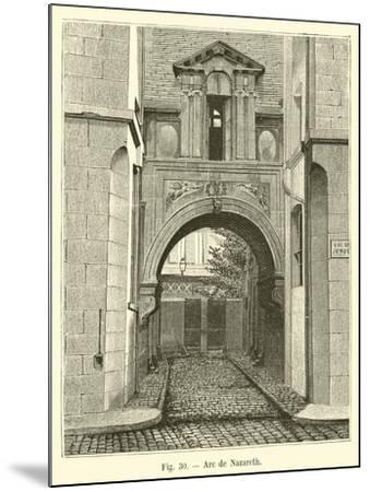 Arc De Nazareth--Mounted Giclee Print