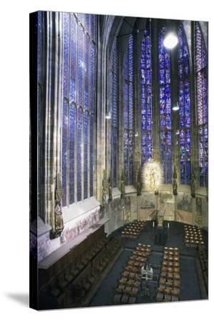 Interior of Aachen Cathedral--Stretched Canvas Print