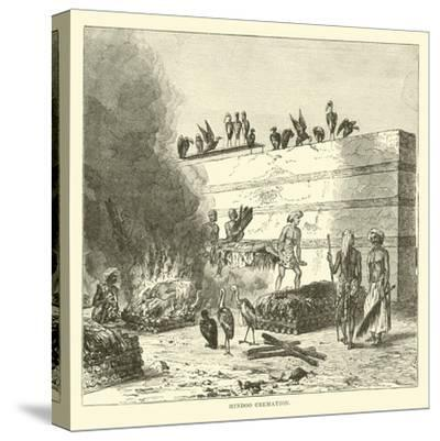 Hindoo Cremation--Stretched Canvas Print