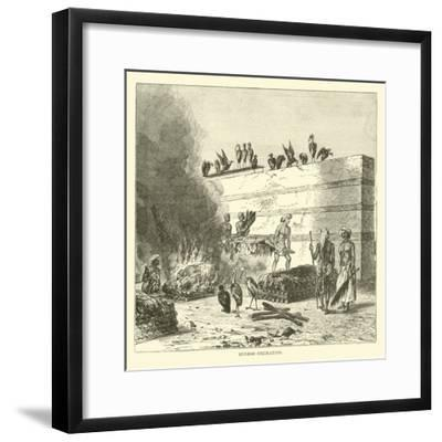 Hindoo Cremation--Framed Giclee Print