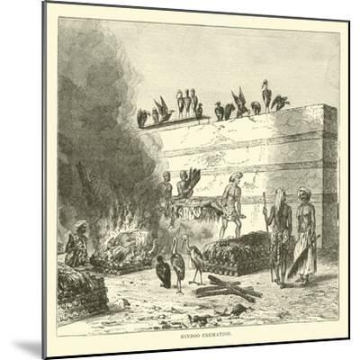 Hindoo Cremation--Mounted Giclee Print