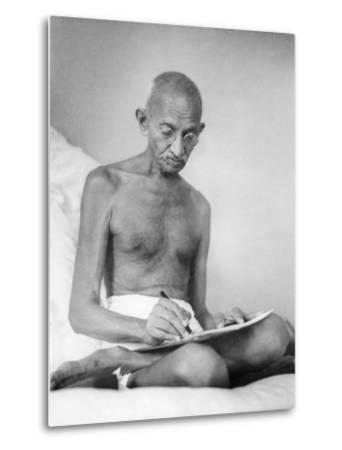 Mahatma Gandhi--Metal Print