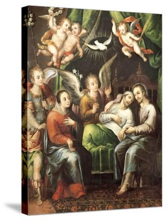 Death of St Joseph-Juan Correa-Stretched Canvas Print