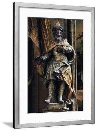 Statue in Side Chapel, Biserica Sfintul Mihail--Framed Giclee Print