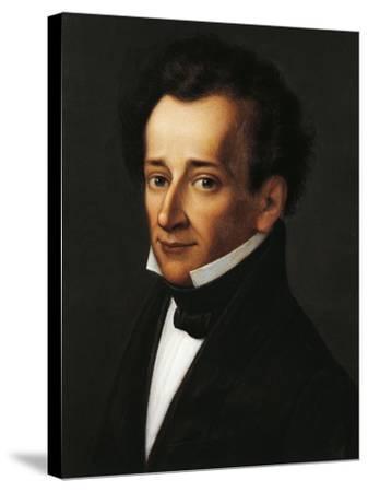 Portrait of Giacomo Leopardi--Stretched Canvas Print