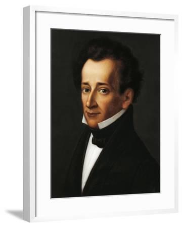Portrait of Giacomo Leopardi--Framed Giclee Print
