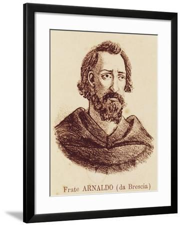 Portrait of Arnold of Brescia--Framed Giclee Print
