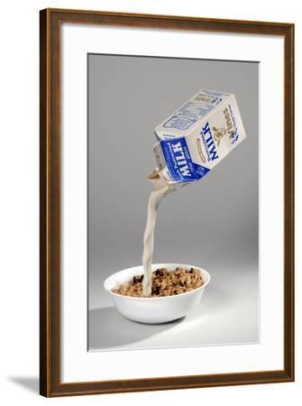 Fake Milk Carton and Bowl, from a Joke Shop--Framed Giclee Print