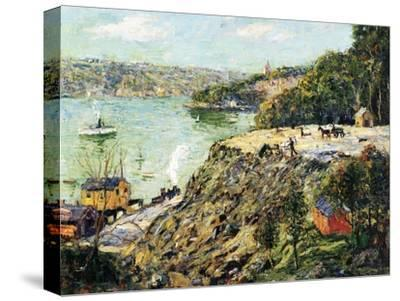 Across the River, New York, C.1910-Ernest Lawson-Stretched Canvas Print