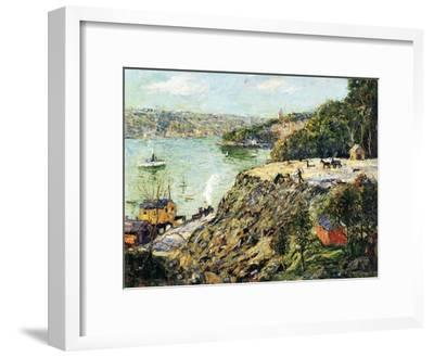 Across the River, New York, C.1910-Ernest Lawson-Framed Giclee Print