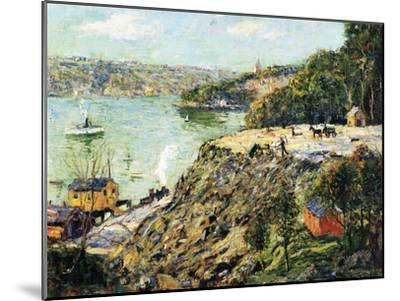 Across the River, New York, C.1910-Ernest Lawson-Mounted Giclee Print