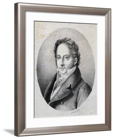 Portrait of Gioacchino Rossini--Framed Giclee Print