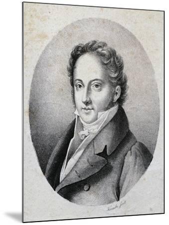 Portrait of Gioacchino Rossini--Mounted Giclee Print
