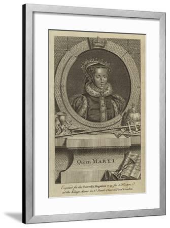 Queen Mary I--Framed Giclee Print