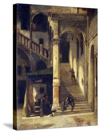 Staircase in the Old Market-Vittorio Avanzi-Stretched Canvas Print