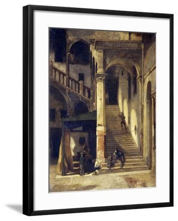 Staircase in the Old Market-Vittorio Avanzi-Framed Giclee Print