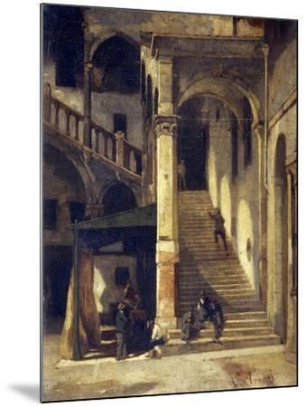 Staircase in the Old Market-Vittorio Avanzi-Mounted Giclee Print