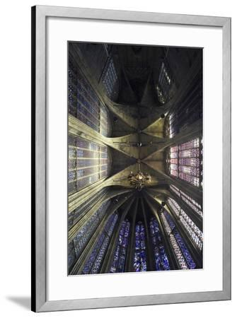 Ceiling and Stained Glass, Aachen Cathedral--Framed Photographic Print