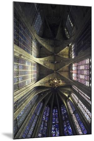 Ceiling and Stained Glass, Aachen Cathedral--Mounted Photographic Print