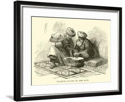 Washing Hands in the East--Framed Giclee Print