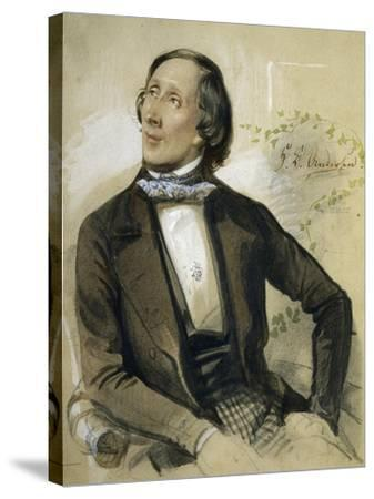 Portrait of Hans Christian Andersen--Stretched Canvas Print