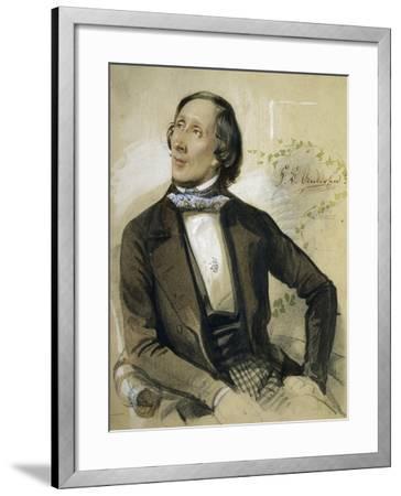 Portrait of Hans Christian Andersen--Framed Giclee Print