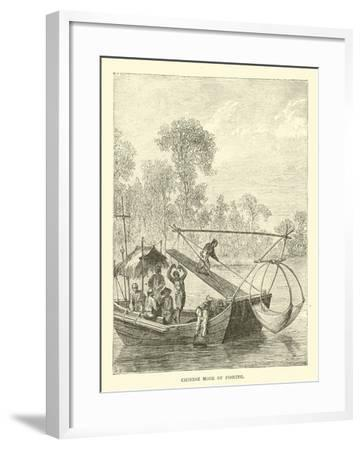Chinese Mode of Fishing--Framed Giclee Print