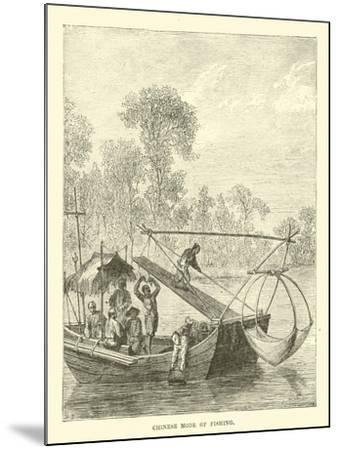 Chinese Mode of Fishing--Mounted Giclee Print