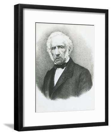 Portrait of Alessandro Manzoni--Framed Giclee Print