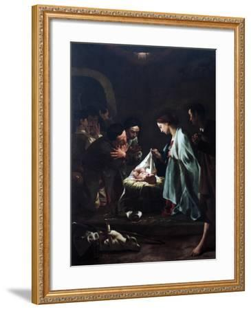 Adoration of Shepherds-Federico Bencovich-Framed Giclee Print