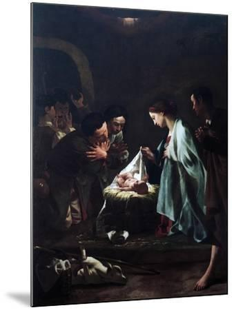 Adoration of Shepherds-Federico Bencovich-Mounted Giclee Print
