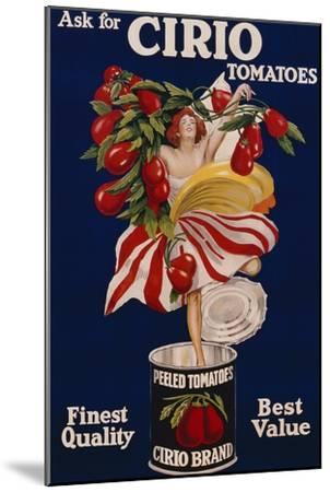 Poster Advertising Cirio Tomatoes, C.1920--Mounted Giclee Print