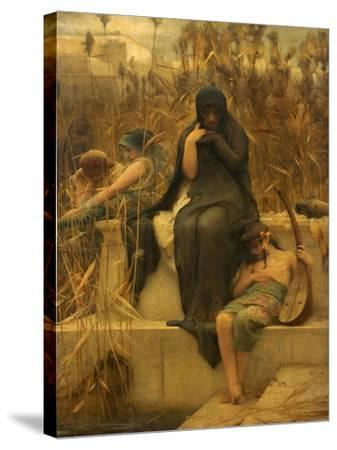 By the Waters of Babylon-Arthur Hacker-Stretched Canvas Print
