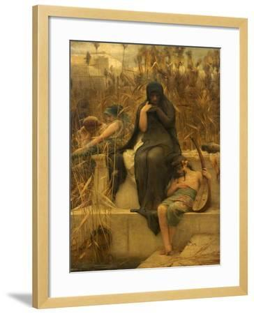 By the Waters of Babylon-Arthur Hacker-Framed Giclee Print