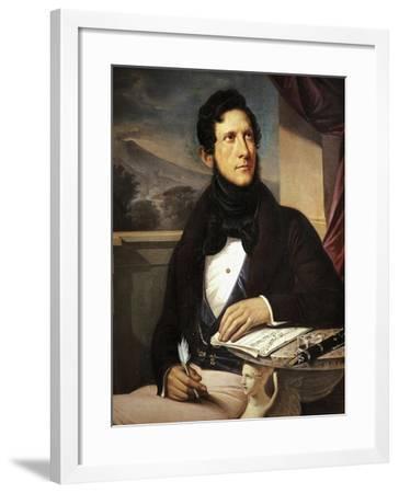 Portrait of Gaetano Donizetti--Framed Giclee Print