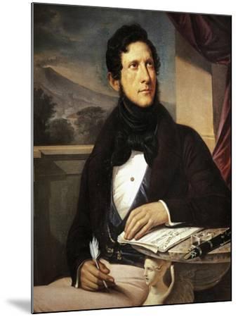 Portrait of Gaetano Donizetti--Mounted Giclee Print