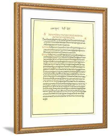 Page from the Pandects of Justinian--Framed Giclee Print