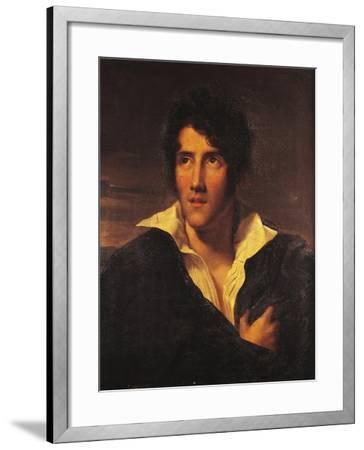 Portrait of Alessandro Manzoni--Framed Giclee Print