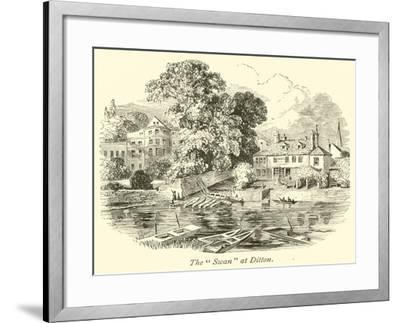 """The """"Swan"""" at Ditton--Framed Giclee Print"""