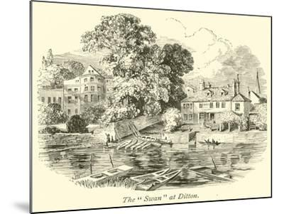 """The """"Swan"""" at Ditton--Mounted Giclee Print"""