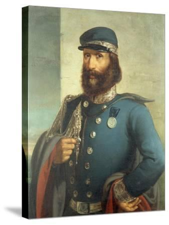 Portrait of Giuseppe Garibaldi--Stretched Canvas Print