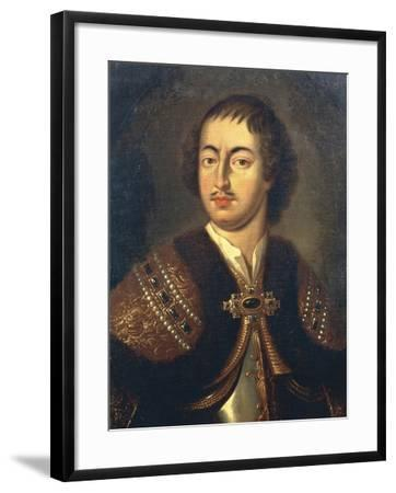 Portrait of Peter I known as Peter Great--Framed Giclee Print